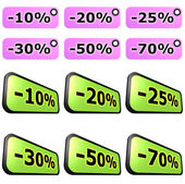 Sale label sets — Stock Photo