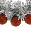 Christmas balls on garland - Stock Photo