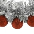 Christmas balls on garland — Stock Photo