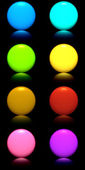 Buttons with reflection — Stock Photo