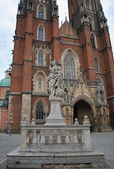 Wroclaw - Cathedral of John the Baptist World on the island Tumski — Stock Photo