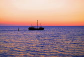 Yalta - evening at sea — Stock Photo