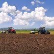 Ploughing of the land — Stock Photo