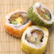 Stock Photo: Rolled sushi