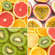Sliced citrus collage — Stock Photo