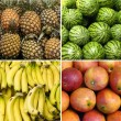 Collage of healthy fruits — Stock Photo