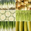 Collage of healthy vegetable - Stock Photo