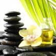 Therapy stones with bamboo — Stock Photo