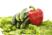 Barevné zdravá čerstvá zelenina. — Stock fotografie