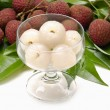 Fresh tropical lychee — Stock Photo