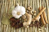 Arrangement of spices — Stock Photo