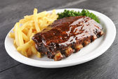 Grilled barbecue ribs — Stock Photo