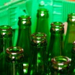 Crate with empty beer bottles — Stock Photo