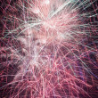 Stock Photo: Thirty seconds of fireworks