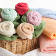 Scene with bath towels - Stock Photo