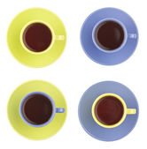 Set of color cups — Stock Photo