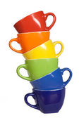 Set of colorful cups. — Stock Photo