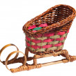 Wicker sledge. — Stock Photo