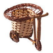 Wicker bicycle. — Stock Photo
