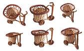 Set di biciclette di vimini. — Foto Stock