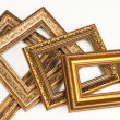 Royalty-Free Stock Photo: Collection of vintage frame, isolated on white.