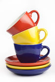 Pile of colorful cups — Stock Photo