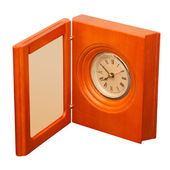 Clock with photo frame — Stock Photo