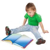 Little boy with book — Foto de Stock