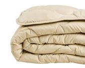 Part of beige blanket — Stock Photo