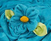 Handdoek vorm van een bloem — Stockfoto