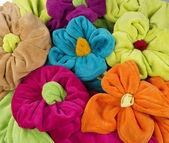 Ręcznik w kształcie kwiatu — Stockfoto