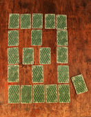 Solitaire of playing cards — Stock Photo