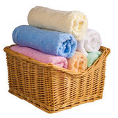 Colored terry towels — Stock Photo