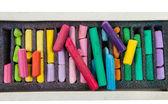 Multicolored pastel chalks — Stock Photo