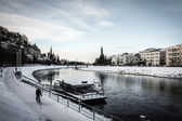 Winter evening in Salzburg — Stock Photo