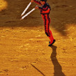 Bullfighter in action — Stock Photo