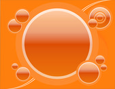 Retro Circles in orange — Stock Photo