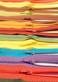Colored zippers — Stock Photo