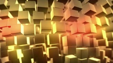 Gold background, loop seamless, animation — Stock Video