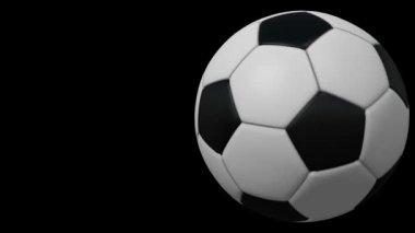 Bola de futebol, loop sem costura, animação — Vídeo Stock