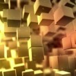 Stock Video: Gold background, loop seamless, animation
