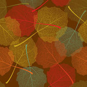 Autumnal seamless leaf pattern. — Stock Vector
