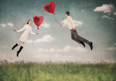 The love helps to fly up — Stock Photo