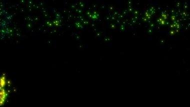 Fireworks on black — Stock Video