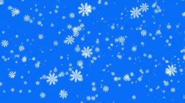 Snowflakes on blue background — Stock Video