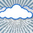 Weather. clouds symbol - Stock Photo