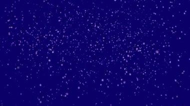 Snow on dark blue background — Video Stock