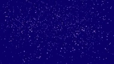 Snow on dark blue background — 图库视频影像