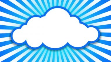 Cloud symbol — Stock Video