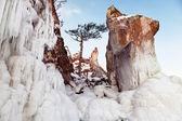 Rocas y hielo — Foto de Stock